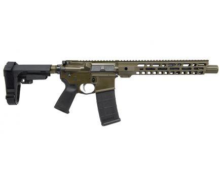 """PSA Custom 5.56 NATO 10.5 Nitride 12"""" Limited Edition Handguard MLOK MOE EPT SBA3 Pistol - ODG"""