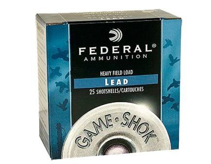 """Federal 12ga 2.75"""" 1-1/4oz #6 """"Game-Shok"""" Heavy Field Lead Shotshell Ammunition 25rds - H125 6"""