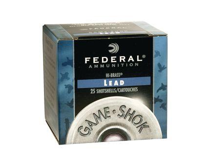 "Federal 410ga 2.5"" Max 1/2oz #7.5 ""Game-Shok"" Hi-Brass Lead Shotshells 25rds - H412 7.5"