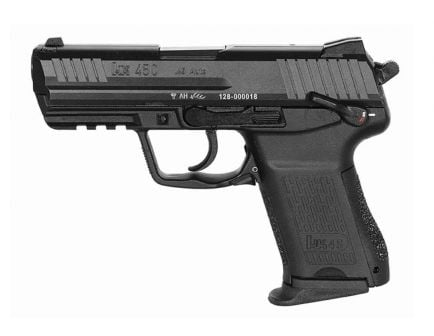 H&K HK45 Compact .45 ACP Pistol With Decocker Safety, Black