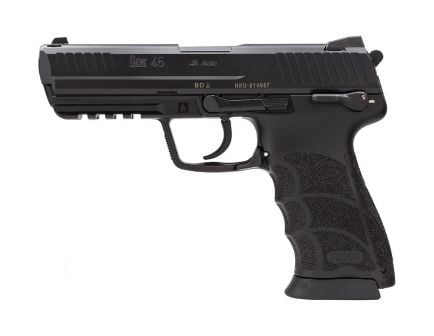 H&K HK45 V1 DA/SA .45 ACP Pistol With Safety Decocker, Black