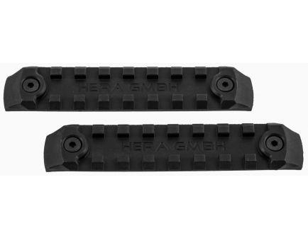 "Hera USA KeyMod 4"" Polymer Rail Panel, Black, 2/pack - 180101"