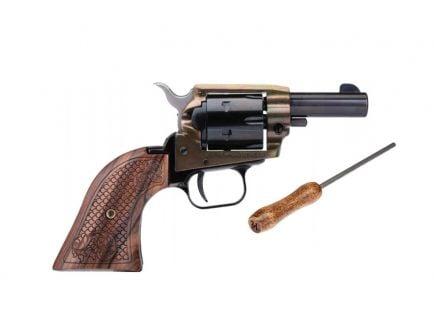 "Heritage Rough Rider Barkeep 2"" .22 LR Revolver With Custom Scroll Wood Grips"