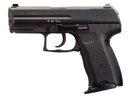 HK P2000 V3 DA/SA 10 Round 9mm Pistol With Decocker, Black