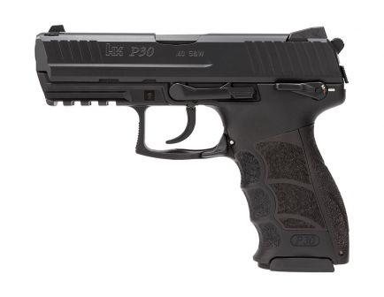 HK P30S V3 DA/SA Rear Decocker .40 S&W Pistol, Black