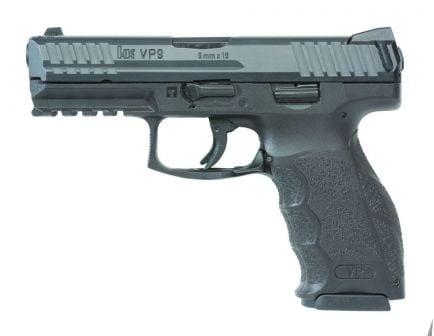 HK VP9 10 Round 9mm Pistol, Black