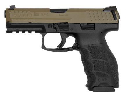 HK VP9 9mm Pistol, FDE/Black