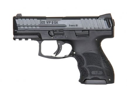 HK VP9SK 10 Round 9mm Pistol With Night Sights, Black