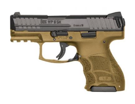 HK VP9SK Subcompact 9mm Pistol FDE