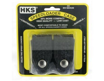 HKS Double Speedloader Case .22 LR/.357 Magnum | Black Basket Weave