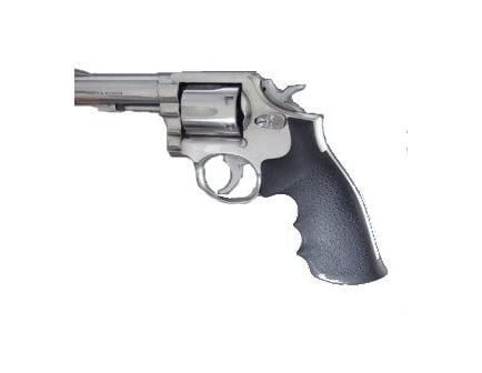 Hogue Mono Grips S&W K,L Frame Square Butt Black Rubber 10000