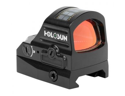 Holosun 407C-GR 2 MOA Solar Green Dot Sight With Shake Awake, Black