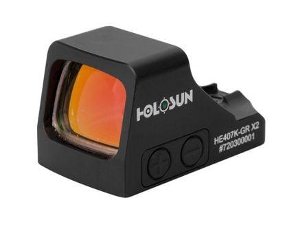 Holosun HE407K X2 6 MOA Green Dot Reflex Sight With Shake Awake, Black
