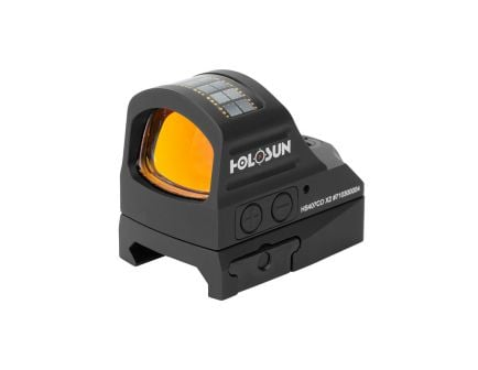 Holosun HS407CO 8 MOA Solar Open Reflex Sight With Shake Awake, Black