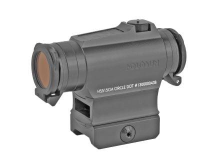 Holosun HS515 Circle Dot Micro Solar Red Dot Sight With Shake Awake, Black