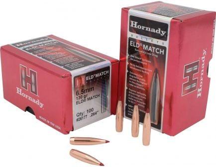 Hornady ELD Match 6.5mm Bullets 130 Grain, 100/box - 26177