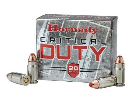 Hornady Critical Duty 124 gr Flexlock 9mm +P Ammunition, 25 Rounds