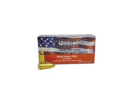 Century 9mm 115gr FMJ Hot Shot Ammunition 1000 rounds (20 boxes of 50) - AM1904