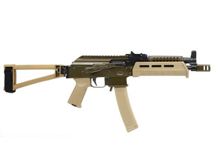 "PSA Custom ""Gorka"" AK-V 9mm MOE  Triangle Folding Pistol w/ Cheese Grater - ODG & FDE"