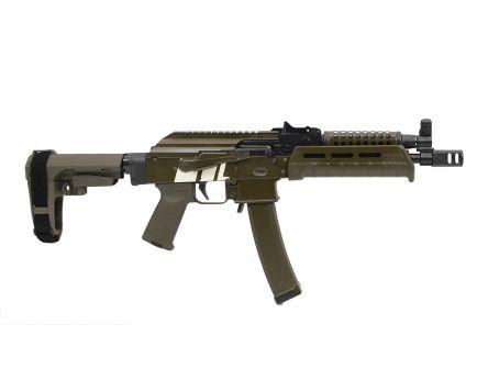 PSA Custom AK-V 9mm MOE  SBA-3 Pistol w/ Cheese Grater Handguard - USC