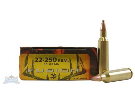 Federal 22-250 55gr Fusion Ammuniton 20rds - F22250FS1