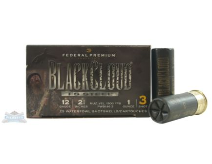 "Federal 12ga 2.75"" 1oz #3 Black Cloud Waterfowl Shotshell Ammunition 25rds - PWB146 3"