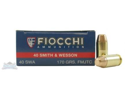 Fiocchi 40 S&W 170gr FMJTC Ammunition 50ct box- - -40SWA