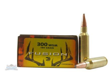 Federal 300 WSM 180gr Fusion Ammunition 20rds - F300WSMFS2