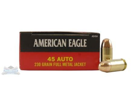 American Eagle 45 Auto/ACP 230gr FMJ Ammunition 50rds - AE45A