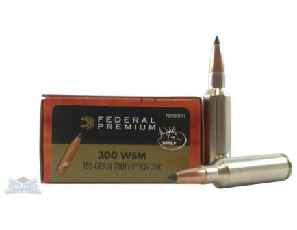 300 WSM Ammo Federal 300 WSM 180gr Trophy Copper Vital-Shok Ammunition 20rds - P300WSMTC1