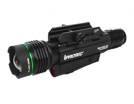iProTec RM400-LSR Green Light/Red Laser Combo Weapon Light, Rechargeable Battery, Rail Mount Kit