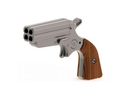 """Iver Johnson Pocket Ace 2"""" Quad Barrel .22 LR Derringer With Rosewood Grips, Stainless"""