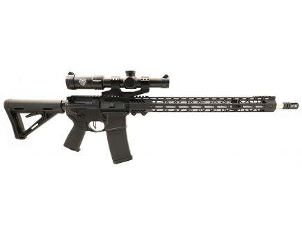 "PSA Custom 5.56 NATO 20"" SS 1/7 Twist 18"" Cross-Cut MLOK MOE Rifle w/ 3.5 LB FLAT FCG, Ambi Safety & 1-4X28 PSA Custom Optic"