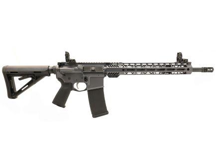 "PSA Custom 5.56 NATO 16"" Mid-Length 1/7 Nitride 13.5"" Cross-Cut M-Lok MOE EPT Rifle w/MBUS - Grey"