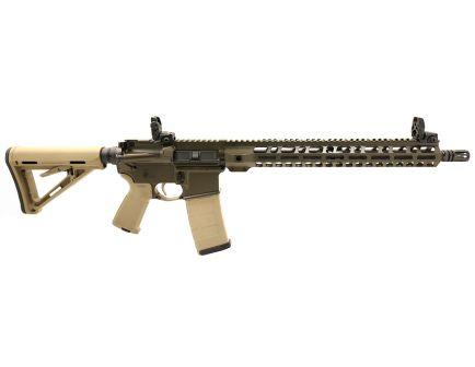 "PSA Custom 5.56 NATO 16"" 1/7 Phosphate Carbine-Length 15"" Lightweight MLOK MOE EPT Rifle w/ MBUS  - ODG/TAN"