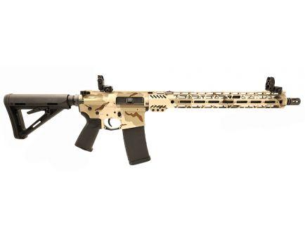 "PSA Custom 5.56 NATO Carbine-Length 16"" Nitride 15"" Cross-Cut MLOK MOE Rifle w/ 3.5 lb Curved Bow FCG & MBUS  - DCU"