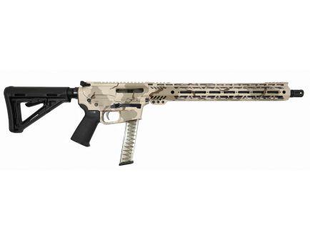"PSA Custom PX-9 9MM 16"" Nitride 15"" Cross-Cut PCC Rifle w/ EPT FCG - Desert"