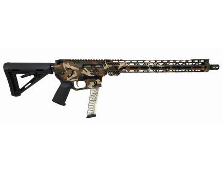 "PSA Custom PX-9 9MM 16"" Nitride 15"" Cross-Cut PCC Rifle w/ EPT FCG - Woodland"