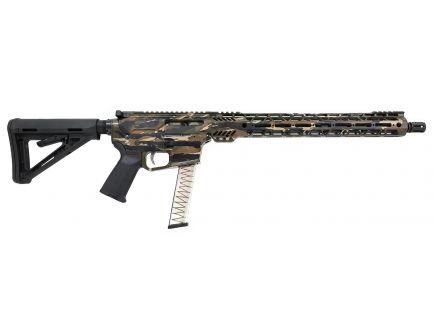 "PSA Custom PX-9 9MM 16"" Nitride 15"" Cross-Cut PCC Rifle w/ EPT FCG - Tiger Stripe"