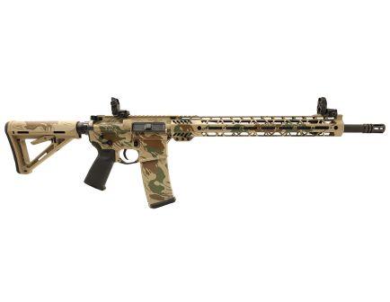 """PSA Custom """"Rhodestroke"""" 18"""" CHF .223 Wylde 1/8 15"""" Cross-Cut MLOK Rifle w 3.5 lb Curved FCG, Ambi Safety & MBUS"""