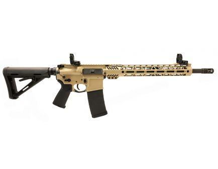 "PSA Custom 5.56 NATO 16"" Phosphate 1/7 13.5"" Cross Cut MLOK MOE Rifle w/ 3.5 lb Curved Bow FCG, Ambi Safety & MBUS - Tan"