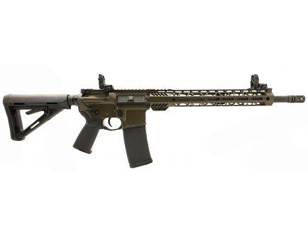 "PSA Custom 5.56 NATO 16"" Phosphate 1/7 13.5"" Cross Cut MLOK MOE Rifle w/ 3.5 lb Curved FCG, Ambi Safety & MBUS - ODG"