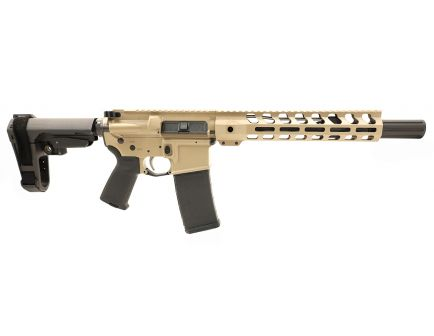 "PSA Custom 5.56 NATO 10.5"" Nitride 1/7 Twist 10.5"" Lightweight M-LOK SBA3 PISTOL w/ EPT FCG - Tan"