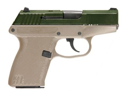 Kel-Tec P11 9mm Pistol, Green/Tan