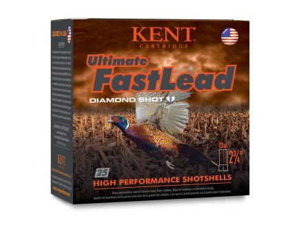"Kent Ultimate Fast Lead 12 Gauge 2 3/4"" 1 3/8 oz 6 Shot 25 Rounds"