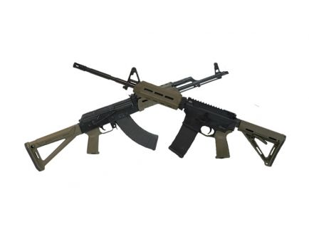 Blem PSAK-47 Liberty GB2 MOE Rifle, OD Green & PSA MOE AR-15, OD Green With Matching Serial Numbers