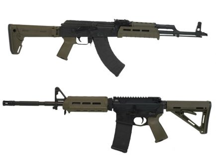"""Blem PSAK-47 GB2 Liberty """"MOEkov"""" Rifle, ODG & PSA 16"""" AR-15 MOE Freedom Rifle, ODG with Matching Serial Numbers"""