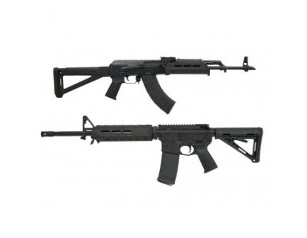 "PSAK-47 GB2 Liberty MOE Rifle, Black & PSA 16"" AR-15 Freedom MOE Rifle, Black with Matching Serial Numbers"