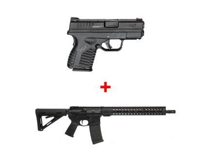 "Springfield Armory XD-S 3.3"" 9mm Pistol & PSA 16"" AR-15 M-Lok MOE EPT Freedom Rifle"