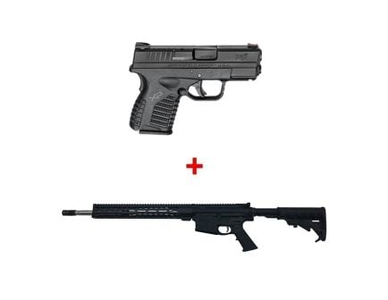 "Springfield Armory XD-S 3.3"" 9mm Pistol & PSA 18"" PA-10 M-Lok Classic EPT Rifle"